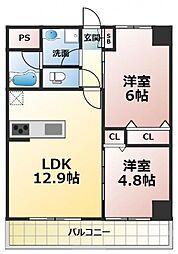 (仮称)新喜多東1丁目新築マンション[4階]の間取り