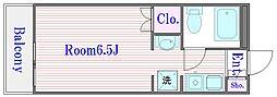 東京都板橋区板橋4の賃貸マンションの間取り