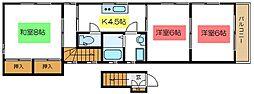 JR総武線 小岩駅 徒歩8分の賃貸アパート 3階3Kの間取り