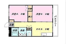 オーリン7号ビル[603号室]の間取り