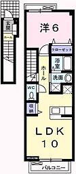 サニーパレスC[2階]の間取り