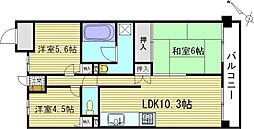 ヴェルデコート矢賀[2階]の間取り
