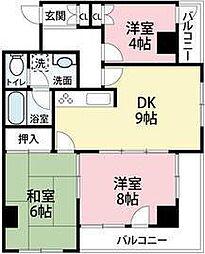 JUN朝霞台コート[4階]の間取り