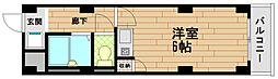 シティコア菊水[3階]の間取り