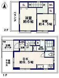 [一戸建] 東京都中野区弥生町5丁目 の賃貸【/】の間取り
