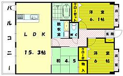 JSマンション新宮ステーション[6階]の間取り