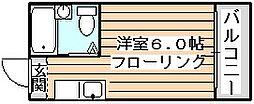 ルネッサンスエレガンス[6階]の間取り