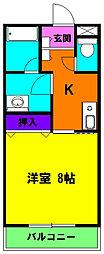 静岡県浜松市中区富塚町の賃貸アパートの間取り
