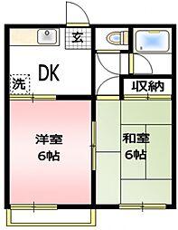 ファミーユ桜ヶ丘[2階]の間取り