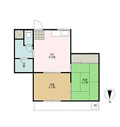 第2オーシャンビル[3階]の間取り