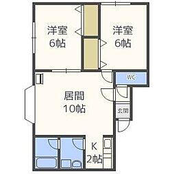 モデュロールN461[3階]の間取り