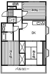 アトリオ城ケ崎[301号室]の間取り