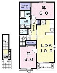 リカステ[2階]の間取り