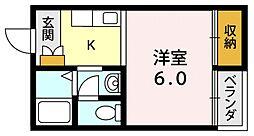 シンセイドルフ[2O3号室号室]の間取り