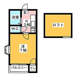 スル−ヴァリⅠ[2階]の間取り