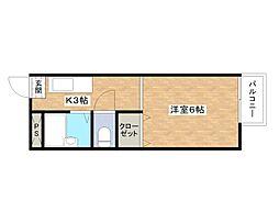 寺井ハイツ[1階]の間取り