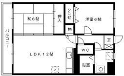 コンフォーレ[4階]の間取り
