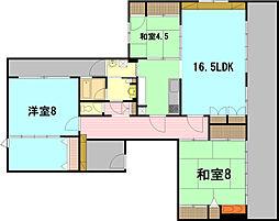パークコートS1[8階]の間取り