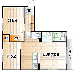 シンフォニーガーデンB棟[2階]の間取り