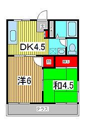 チェリ−ハイツ[2階]の間取り