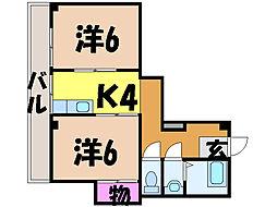 愛媛県松山市萱町4丁目の賃貸マンションの間取り