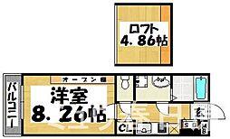福岡県大野城市川久保1丁目の賃貸アパートの間取り