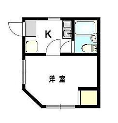 シティフラット板橋本町[2階]の間取り