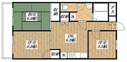 キョーワハウス拝島I[3階]の間取り