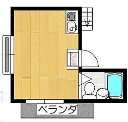 神奈川県川崎市多摩区生田6丁目の賃貸アパートの間取り