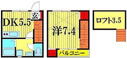 [テラスハウス] 埼玉県越谷市新越谷2丁目 の賃貸【/】の間取り
