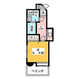 エステートモア大橋CLIO[8階]の間取り