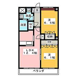Miura Mansion[3階]の間取り