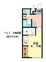 兵庫県相生市千尋町の賃貸アパートの間取り