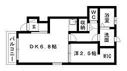 コワンテールB[1階]の間取り