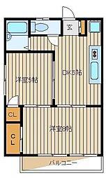 ホワイトゲーブル[2階]の間取り