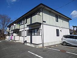 茨城県那珂市中台の賃貸アパートの外観