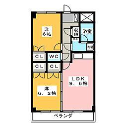 サンコートヒロ[1階]の間取り