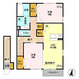 連取ハウス[2階]の間取り