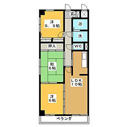 タウンホーム六番[6階]の間取り