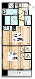 グランシャリオ町田[1504号室]の間取り