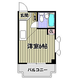パウゼ河内長野駅前[6階]の間取り