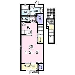 プランドール新庄Ⅲ[2階]の間取り