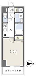 ジュネーゼグラン弁天町1203号室 12階1Kの間取り