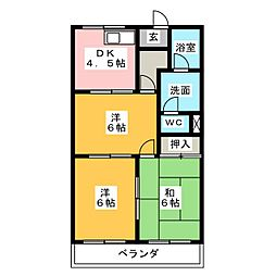 メゾンエクセル2[3階]の間取り