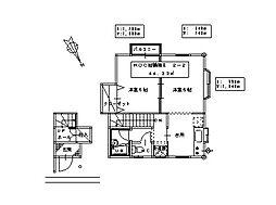 ROC裕鶴岡II[2-2号室]の間取り