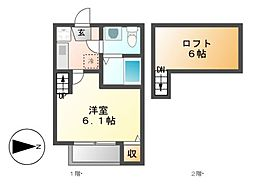 STAGE柴田[1階]の間取り