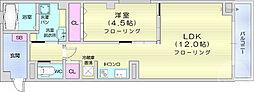 元貞坂S 2階1LDKの間取り