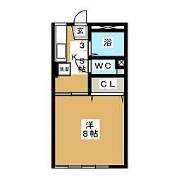 タカラユアパートII[1階]の間取り