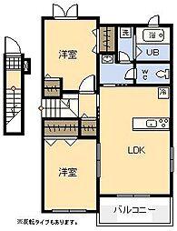 (新築)スカイスター南宮A[2階]の間取り