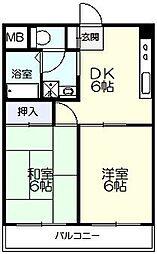 アメニティ矢島[303号室]の間取り
